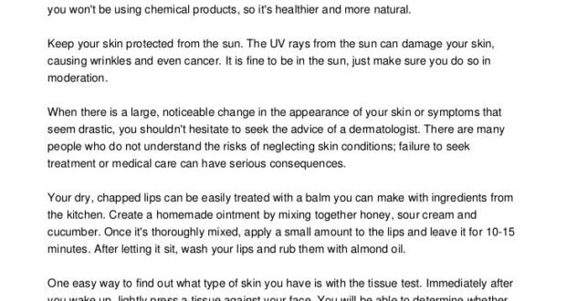 Quick Tricks To Tackle Your Skin Care Issues